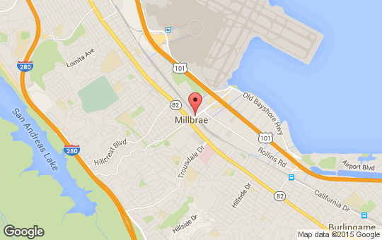 Map of downtown Millbrae